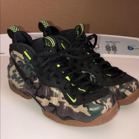 "info for 65a0d c3cf6 Nike Foamposite Pro PRM LE ""Green Camo"""